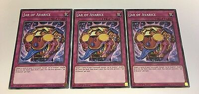 3 x YuGiOh - Jar of Avarice SR03-EN033 1st Edition NEW