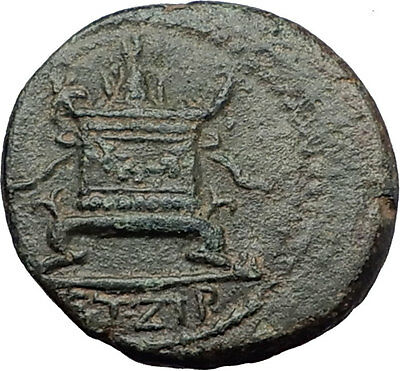 ANTIOCH on the ORONTES in Seleukis 68AD Zeus Altar Ancient Greek Coin i60761