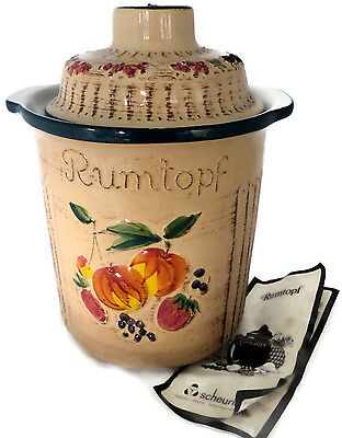 Rumtopf Large Crock Fermenting Fruit Pot Germany Scheurich With Instructions