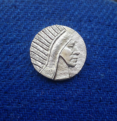 1937 Hobo Nickel Indian Chief With Feathered Headdress & Vest