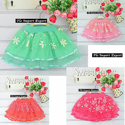 Gonna Tutù Tulle Casual Bambina 5-8 anni Girl Tutu Tulle Skirt SKIR013