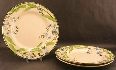 Lot Of 3 Franciscan Forget-Me-Not Dinner Plate Plates VGC