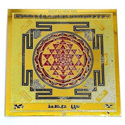 SRI YANTRA Shree YANTRAM CHAKRA HEALING POWERFUL ENERGIZED BLESSED OM