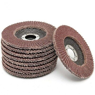 "9 Pack 4 1/2"" of 120 Grit Flapper Flap Sanding Discs Sander for Angle Grinder"