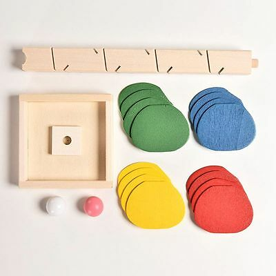 Multi-color Wooden Toys Building Blocks Educational Tree Marble Ball Run Track