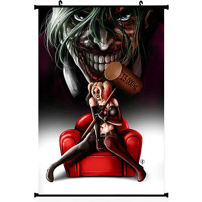 Suicide Squad Joker Harley Quinn Poster Wall Scroll 11.5x20 22.5x36 inch 004