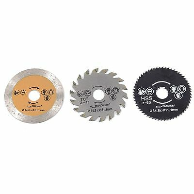 3pcs/set Tool 54.8 Mm 85mm Saw Blade Cutting Disc Wheel Metal Wood