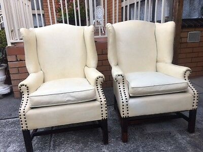 Vintage,Retro American Wing Back Chairs