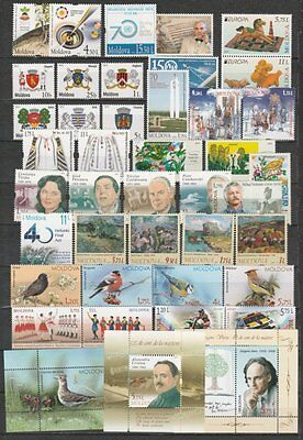 Moldova 2015 complete yearset, 39 stamps and 3 souvenir sheets