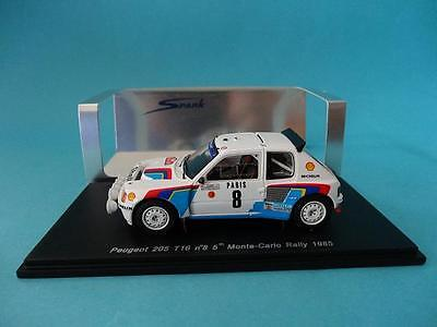 Peugeot 205 T16 #8 - Bruno Saby - Rally Monte Carlo 1985 - 1/43 New Spark S1269