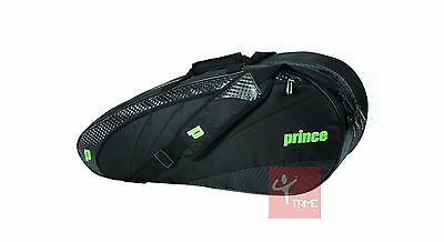 Prince TeXtreme 6+ Pack Racket Bag - Black / Green