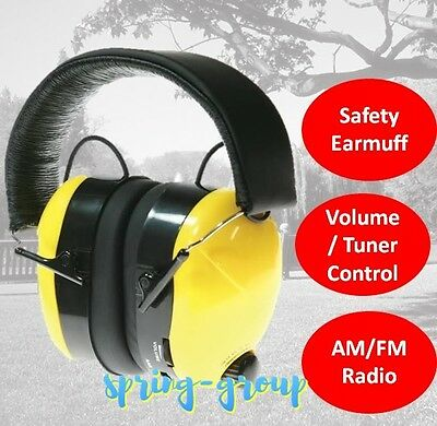 Construction Headset Ear Muffs AM FM Radio Work Hearing Protection Job Safety