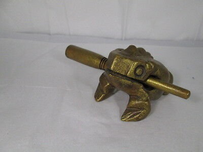 Handcrafted Wooden Croaking Frog Instrument Thailand