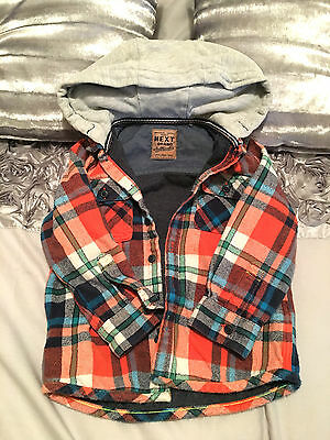 Boys Next Checked Shirt Jacket 12-18 Months