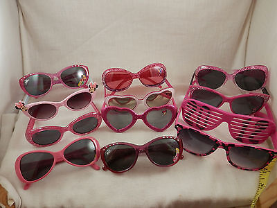 Disney Pink Sunglasses girls and toddlers lot of 11 plus 2012 glasses 12 pieces
