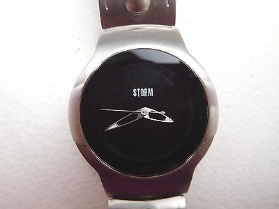 Storm stainless steel ladies watch Reg: no: 2018084 Great condition Black face