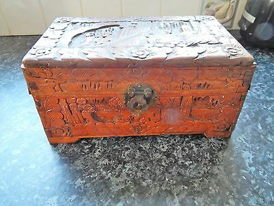 Antique Carved Wooden Box - African Origin?