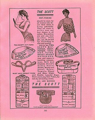 1906 WD Ad The SCOTT Hip Form Short Skirt Yoke SCOTT Garter Pocket Jewel Belt