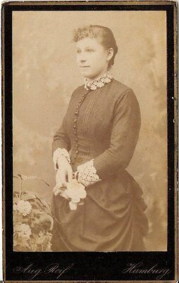 CDV photo Feine Dame - Hamburg 1880er