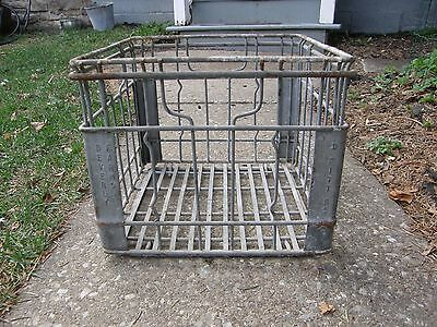 Vintage Beverly Farms Metal Milk Crate Pittsburgh, PA Yard Garden Country Rustic