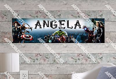 Personalized/Customized The Avengers Name Poster Wall Art Decoration Banner
