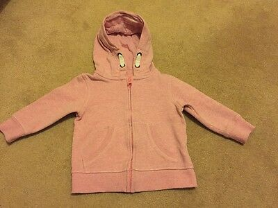 Next Baby Girl Pink Hoody 12 - 18 Months