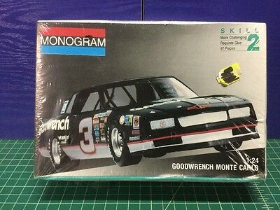 1991 Monogram 1/24 Dale Earnhardt Monte Carlo Model Kit 2900 NASCAR (Sealed)