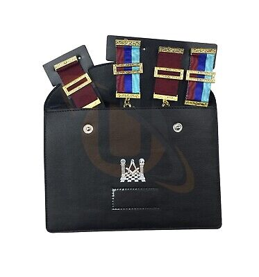 Masonic Regalia Pocket Jewel Holder / Wallet masonic carry case Jewel pouch XL