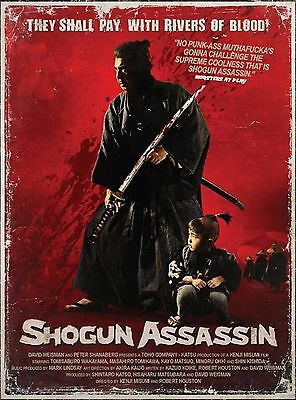 R198 SHOGUN ASSASSIN Movie Classic Cult Cinema Lone-Print Art Silk Poster