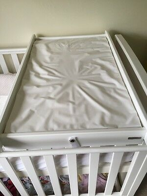 John Lewis Changing Table For Cot Bed In White With Strap