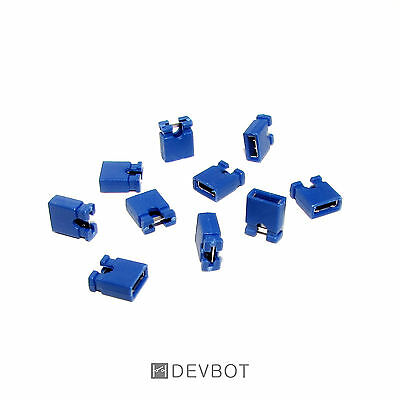 Lot de 10 à 100 Cavaliers Bleu, pas de 2,54 mm Jumper. DIY, Arduino, Pi, CM, HD