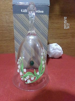 Avon Lead Crystal Birthday Bell May New in Box