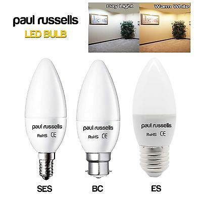 LED 3W 5W 7W (25W 40W 60W Equiv) SES E14 BC ES Candle Light Bulbs Warm Day White
