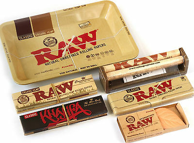Easy RYO Raw Rolling Tray, Roller, Rolling Paper Set, Joint Jay Hemp Maker New