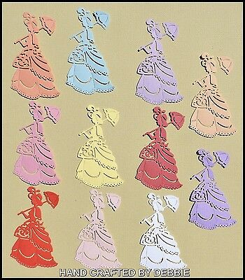 Victorian Lady Die Cuts X 10,card Making,embellishments,album,mum,toppers,girls