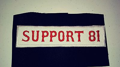 Support 81 Patch Mighty Red & White Supporter!!!! Long Patch