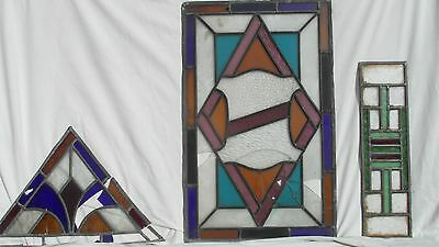Vintage leaded stained glass
