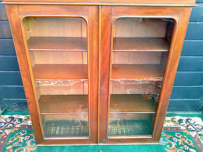 Antique Glazed Bookcase Bookshelf Lockable Key Collection from Blackpool