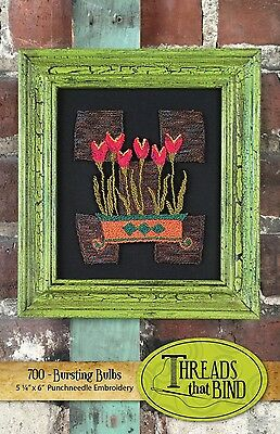 BURSTING BULBS PUNCHNEEDLE EMBROIDERY PATTERN, From Threads That Bind NEW