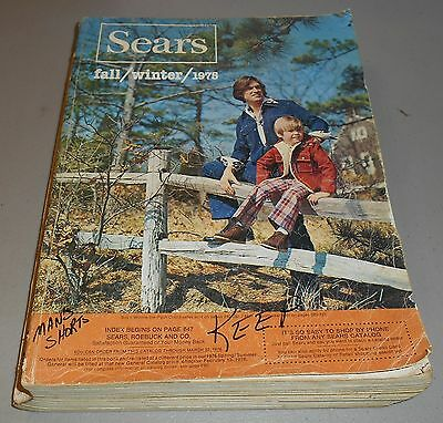 Vintage 1975 Sears Fall & Winter Catalog with 1491 pages