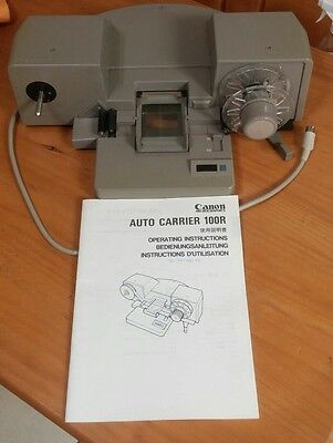 Canon 100R Microfilm Auto Carrier with Instructions Manual