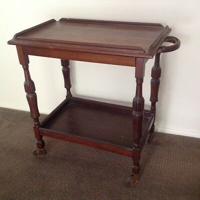Australian Antique Blackwood Trolley Drinks Trolley