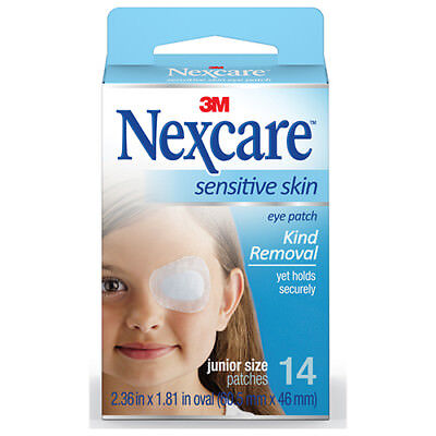 NEW Nexcare Eye Patch Pack Sensitive Skin Junior Lazy Eye Treatment 14Pk