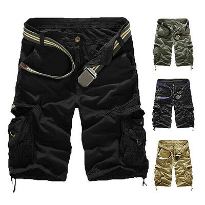 Men Military Army Combat Trousers Tactical Work Pocket Pants Cargo Shorts Worthy