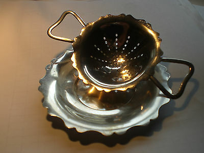 Solid Silver Tea Strainer