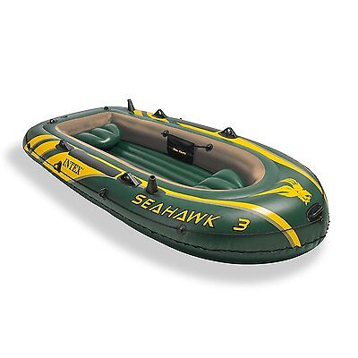 Intex Seahawk 3 Heavy-Duty Inflatable Fishing Boat with Rod Holders | 68349EP