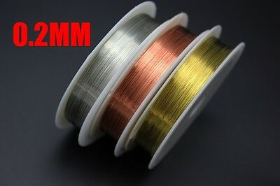 3 Assorted Colors 0.2mm Super Thin Copper Thread Wire Fly Tying Material