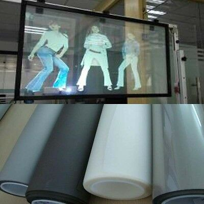 Self Adhesive Holographic Rear Projection Screen Material Window Film 5 Colors