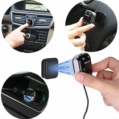Bluetooth Magnetic FM Transmitter Car MP3 Player Handsfree Kit USB Charger SD UK
