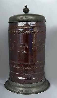 Antique Early German Stoneware Beer Stein  c.1700s